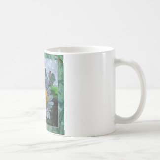 Coffee Mug With Bee And Flower