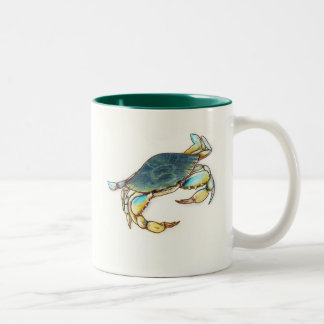 coffee mug with blue crab