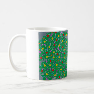 coffee mug with christmas tree design