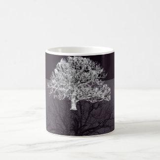 coffee mug with double tree design