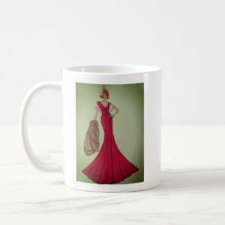 Coffee mug with Fashion Illustration