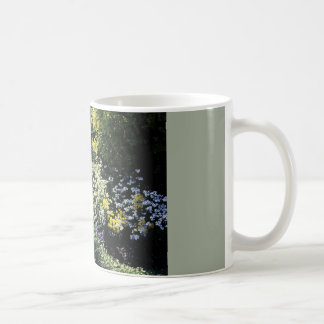 coffee mug with flower garden