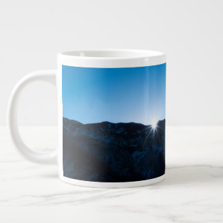 Coffee Mug with Mountain Night Sky and Sunrise