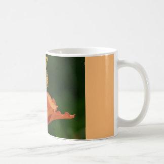 coffee mug with orange flower