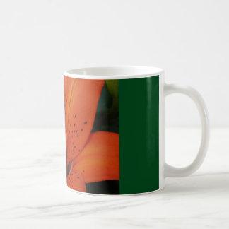 coffee mug with orange lily