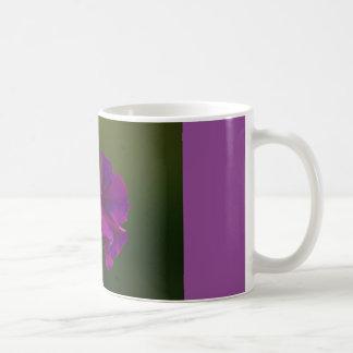 coffee mug with purple morning glory
