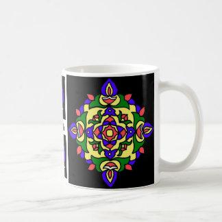 Coffee Mug with Rangoli Patterns