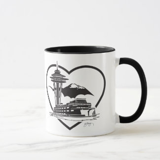 Coffee mug with Seattle design