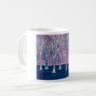 Coffee mug with Winter Trees