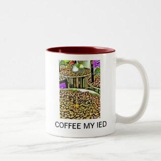 COFFEE MY IED Two-Tone COFFEE MUG