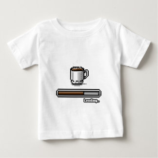 Coffee Now loading retro pixel art games style Baby T-Shirt