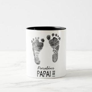 Coffee of the papa Two-Tone coffee mug