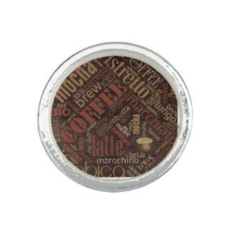 Coffee on Burlap Word Cloud Brown ID283