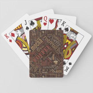 Coffee on Burlap Word Cloud Brown ID283 Playing Cards