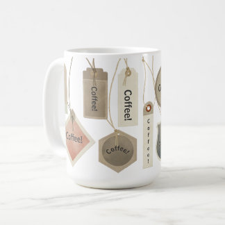 Coffee or Any Monogram Name Tags | Personalized Coffee Mug