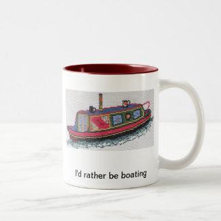 coffee or tea mug with unique cross stitch image