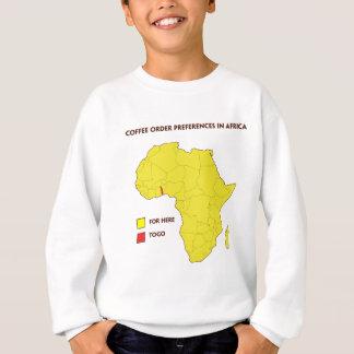 Coffee order preference in Africa Sweatshirt