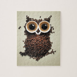 Coffee Owl Jigsaw Puzzle
