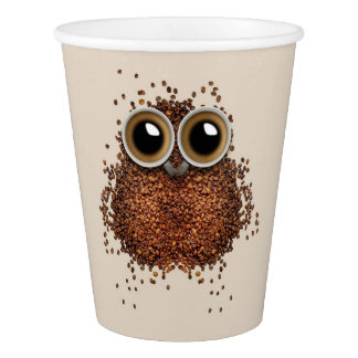 Coffee Owl paper cups