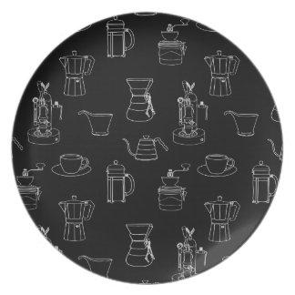 Coffee Paraphernalia Melamine Plate