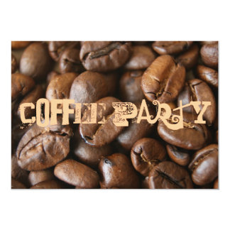 "Coffee party 5"" x 7"" invitation card"