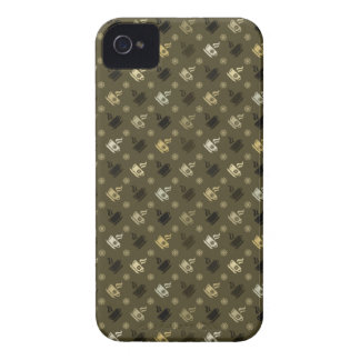 Coffee Pattern 1 iPhone 4 Cover