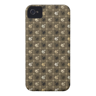 Coffee Pattern 2 iPhone 4 Covers