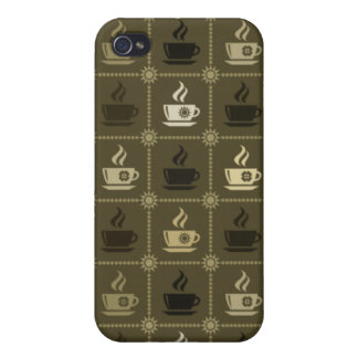 Coffee Pattern 4 iPhone 4/4S Case
