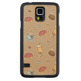 Coffee pattern carved maple galaxy s5 case