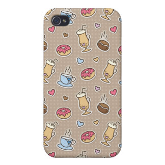 Coffee pattern cover for iPhone 4