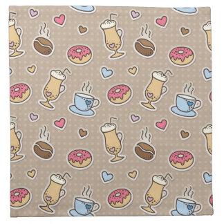 Coffee pattern napkin