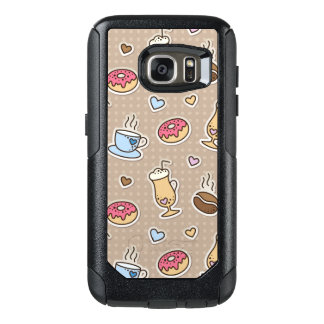 Coffee pattern OtterBox samsung galaxy s7 case