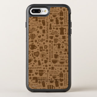 Coffee Pattern Square OtterBox Symmetry iPhone 8 Plus/7 Plus Case