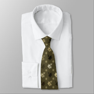 Coffee Pattern Tie