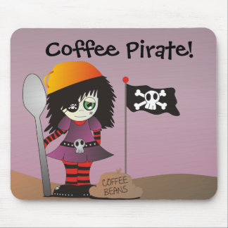 Coffee Pirate - Emo Elzie Has Coffee! Mouse Pads