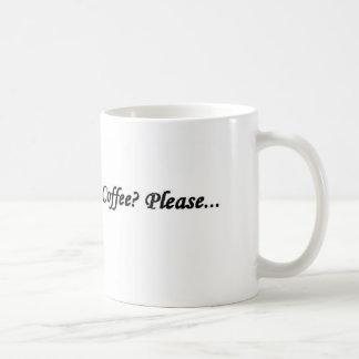 coffee please basic white mug