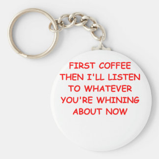 COFFEE.png Basic Round Button Key Ring