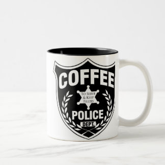 Coffee Police Two-Tone Coffee Mug