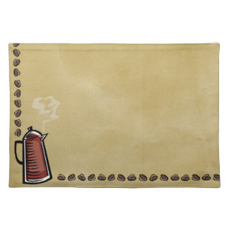 Coffee Pot and Beans Placemat