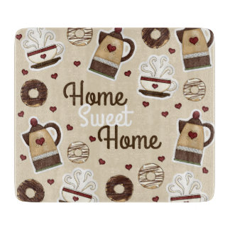 Coffee Pot and Cup Cutting Board
