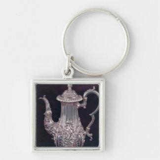 Coffee-pot by John Watson, Sheffield, 1818 Silver-Colored Square Key Ring