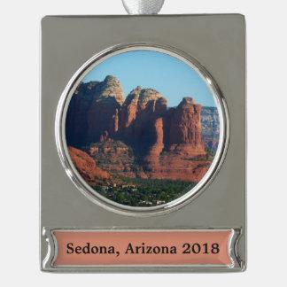 Coffee Pot Rock I in Sedona Arizona Silver Plated Banner Ornament
