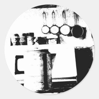 Coffee Pot Round Sticker