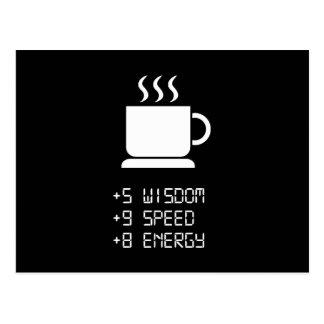 Coffee Power Up Postcard