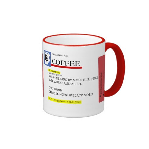 Coffee Prescription Caffeine Addict Mug