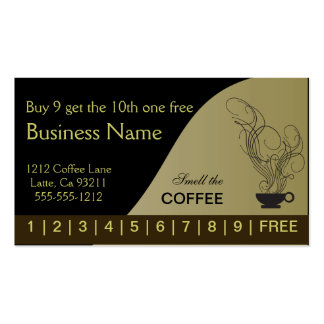 Coffee Punch Cards Both Sides Pack Of Standard Business Cards