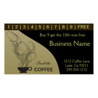 Coffee Punch Cards Pack Of Standard Business Cards