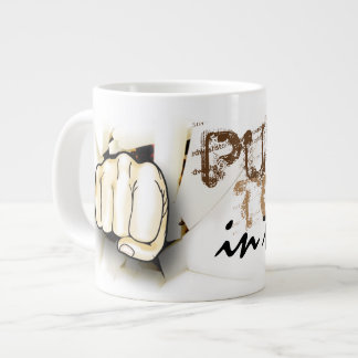 Coffee. Punch Today in the Face. Jumbo Mug
