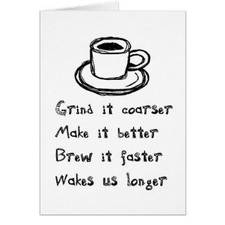 Coffee Punk Greeting Card