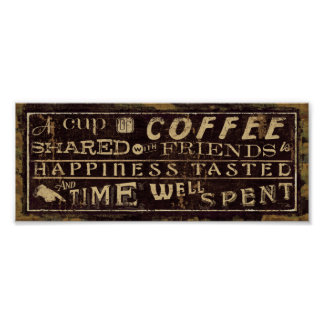 Coffee Quotes Poster